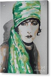 Greta Garbo Acrylic Print by Chrisann Ellis