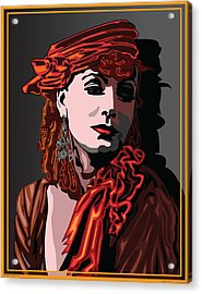 Greta Garbo Hollywood The Golden Age Acrylic Print by Larry Butterworth