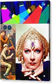 Greta Garbo In Mata Hari Acrylic Print by Art Cinema Gallery