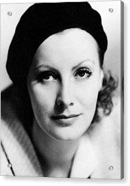 Greta Garbo In The Kiss  Acrylic Print by Silver Screen