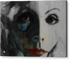 Greta Garbo Acrylic Print by Paul Lovering