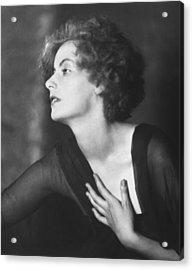 Greta Garbo Portrait Acrylic Print by Arnold Genthe