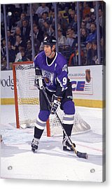 Gretzky At The All Star Game Acrylic Print by B Bennett