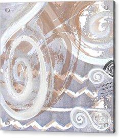 Grey Abstraction 2 Acrylic Print by Eva-Maria Becker