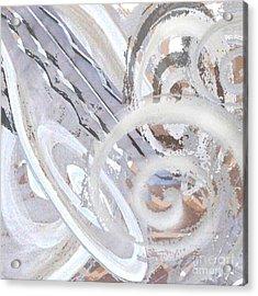 Grey Abstraction 3 Acrylic Print by Eva-Maria Becker