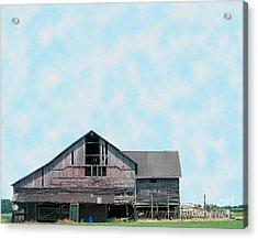 Acrylic Print featuring the photograph Grey Barn by Gena Weiser