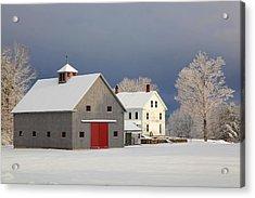 Acrylic Print featuring the photograph Grey Barn by Larry Landolfi