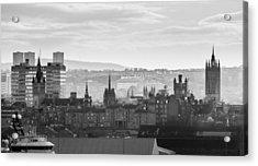 Grey City Acrylic Print