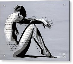 Grey Acrylic Print