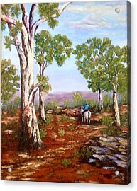 Acrylic Print featuring the painting Grey Gums  by Renate Voigt