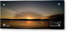 Grey Heaven - Sunrise Panorama Acrylic Print by Geoff Childs