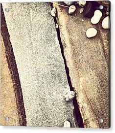 Grey Stone Abstract Acrylic Print by Christy Beckwith