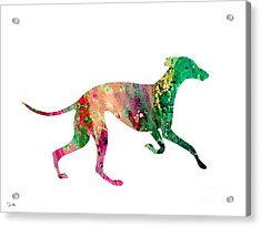 Greyhound 2 Acrylic Print by Luke and Slavi