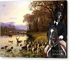 Greyhound Art Canvas Print Acrylic Print