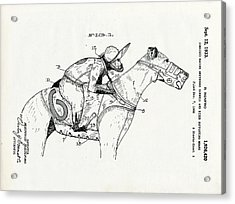 Greyhouse Racing Patent Acrylic Print by Us Patent And Trademark Office