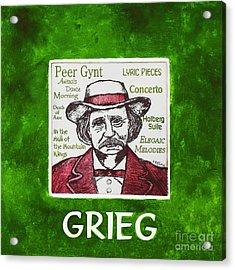 Grieg Acrylic Print by Paul Helm