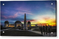 Acrylic Print featuring the photograph Griffith Observatory by Sean Foster