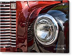 Grill And Headlamp Acrylic Print by Lawrence Burry