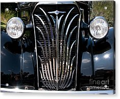 Grill And Headlights Acrylic Print by Vivian Christopher