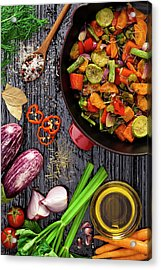 Grilled Vegetables Acrylic Print by Fcafotodigital