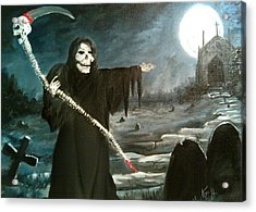 Acrylic Print featuring the painting Grim Creeper by Kevin F Heuman