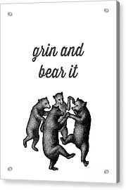 Grin And Bear It Alaska Wildlife Acrylic Print