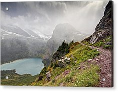 Grinnell Glacier Trail Acrylic Print by Mark Kiver