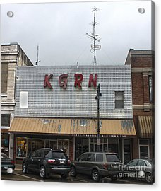 Grinnell Iowa - Kgrn Radio Station Acrylic Print by Gregory Dyer