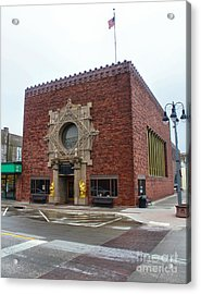 Grinnell Iowa - Louis Sullivan - Jewel Box Bank - 03 Acrylic Print by Gregory Dyer
