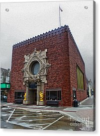 Grinnell Iowa - Louis Sullivan - Jewel Box Bank - 04 Acrylic Print by Gregory Dyer