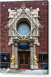 Grinnell Iowa - Louis Sullivan - Jewel Box Bank - 05 Acrylic Print by Gregory Dyer