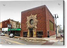 Grinnell Iowa - Louis Sullivan - Jewel Box Bank - 02 Acrylic Print by Gregory Dyer