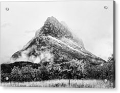 Grinnell Point Black And White Acrylic Print by Mark Kiver