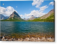 Grinnell Point From Swiftcurrent Lake Acrylic Print