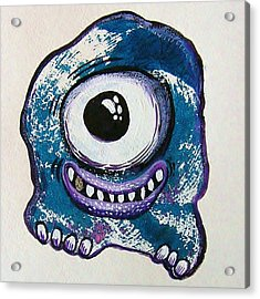 Grinning Monster Acrylic Print by Nancy Mitchell