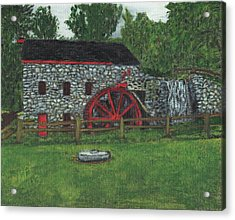 Grist Mill At Wayside Inn Acrylic Print by Cliff Wilson