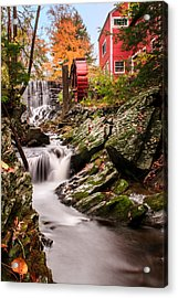 Grist Mill-bridgewater Connecticut Acrylic Print by Thomas Schoeller