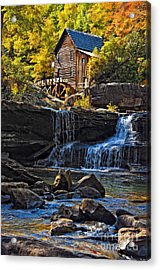 Grist Mill In Babcock State Park West Virginia Acrylic Print