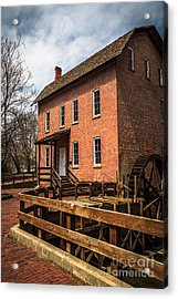Grist Mill In Hobart Indiana Acrylic Print by Paul Velgos