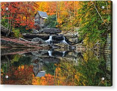 Grist Mill In The Fall Acrylic Print