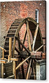 Grist Mill Water Wheel In Hobart Indiana Acrylic Print by Paul Velgos