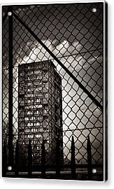 Gritty London Tower Block And Fence - East End London Acrylic Print