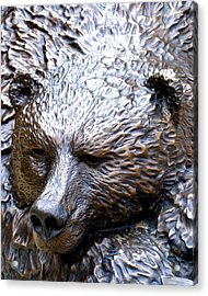 Grizzly Acrylic Print by Charlie and Norma Brock