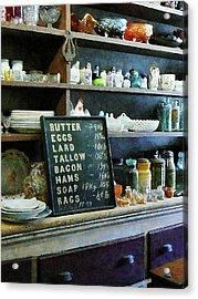 Groceries In General Store Acrylic Print by Susan Savad