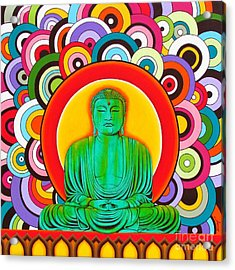 Acrylic Print featuring the painting Groovy Buddha by Joseph Sonday