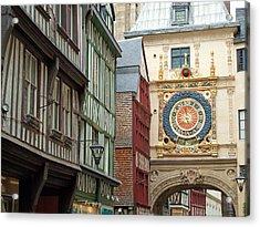 Gros Horloge, Rouen, Normandy, France Acrylic Print by Alex Bartel