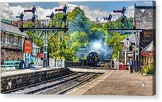 Grosmont Railway Station Acrylic Print by Trevor Kersley