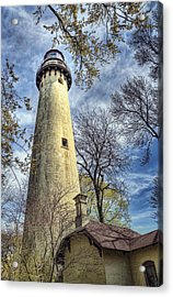 Grosse Point Lighthouse Color Acrylic Print by Scott Norris