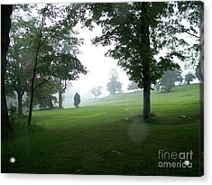 Grossinger Golf Course Rainy Day  Acrylic Print by Kevin Croitz