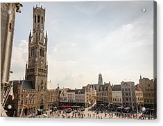 Grote Markt Brugge Acrylic Print